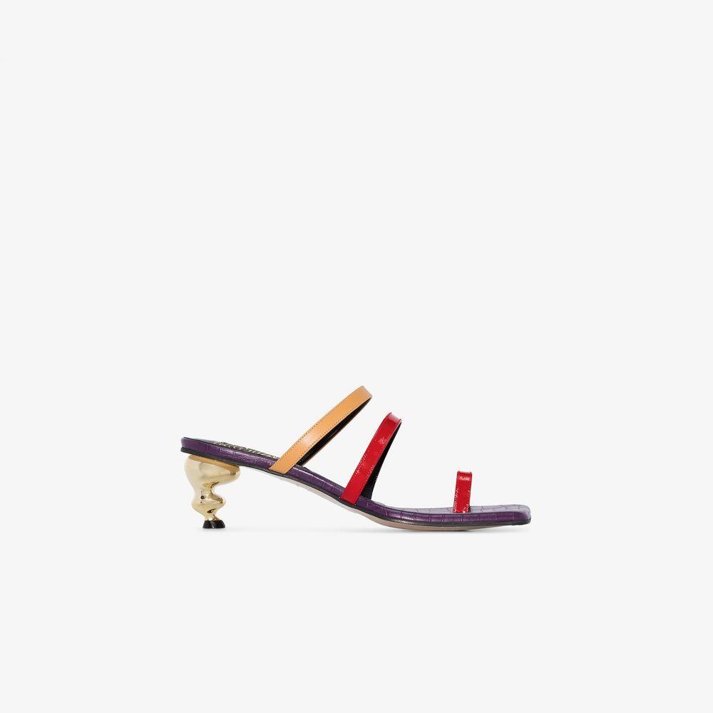 ハウス オブ ホーランド House of Holland レディース サンダル・ミュール シューズ・靴【multicoloured Sunrise 60 leather sandals】purple