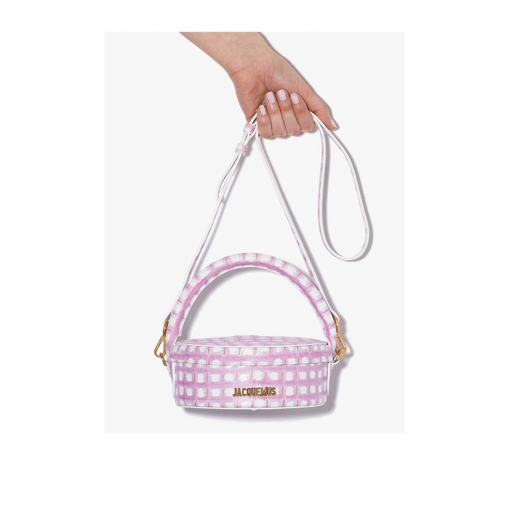 ジャックムス レディース バッグ クラッチバッグ サイズ交換無料 Jacquemus pink a leather アイテム勢ぞろい 流行 La Boite box bag Gateaux