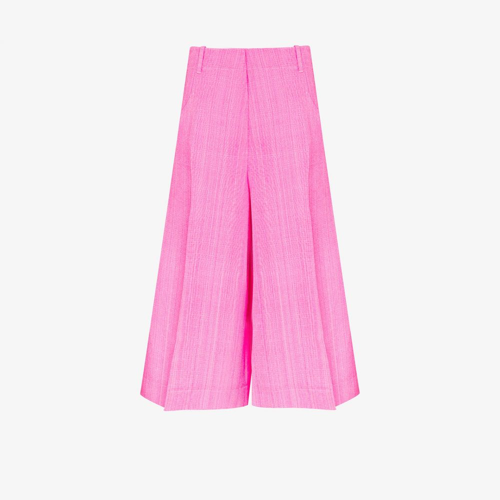 ジャックムス Jacquemus レディース ボトムス・パンツ キュロット【Le Short D'Homme silk cotton culotte trousers】pink