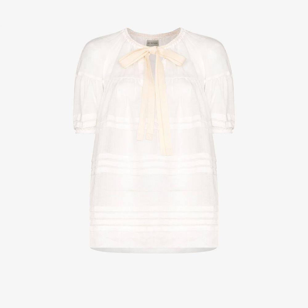リーマシューズ Lee Mathews レディース ブラウス・シャツ トップス【Gigi tiered ramie blouse】white