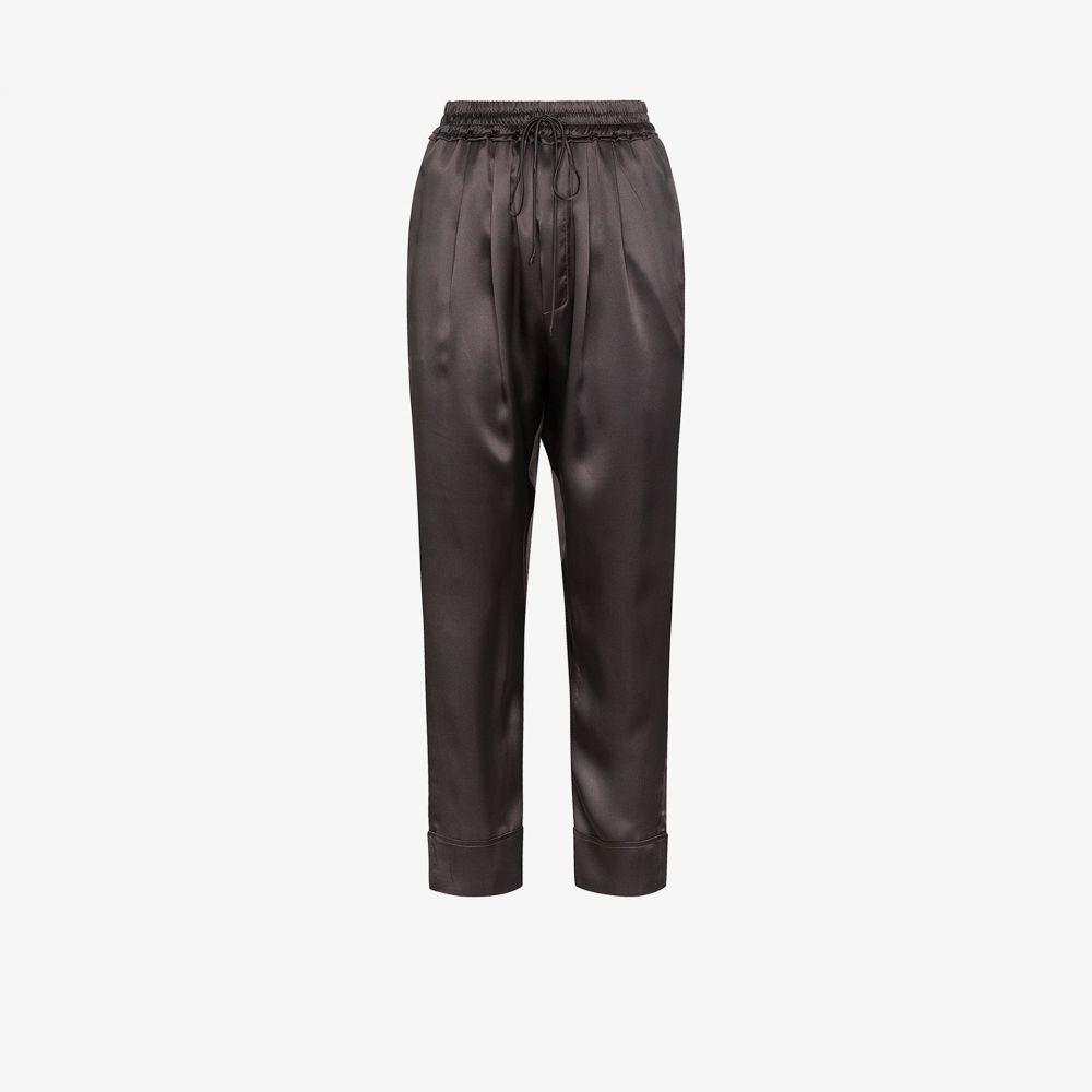 ルカシャ Le Kasha レディース クロップド ボトムス・パンツ【Aksou cropped silk trousers】grey