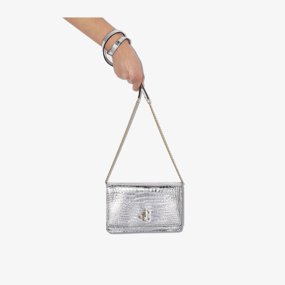 ジミー チュウ Jimmy Choo レディース ショルダーバッグ バッグ【Palace metallic crossbody bag】silver
