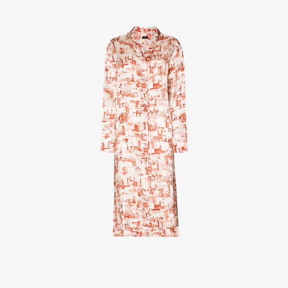 ジョゼフ Joseph レディース ワンピース シャツワンピース ワンピース・ドレス【Gaya montage print shirt dress】white