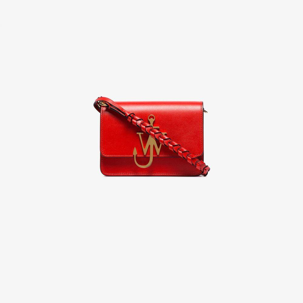 J.W.アンダーソン JW Anderson レディース ショルダーバッグ バッグ【red anchor logo leather cross body bag】red