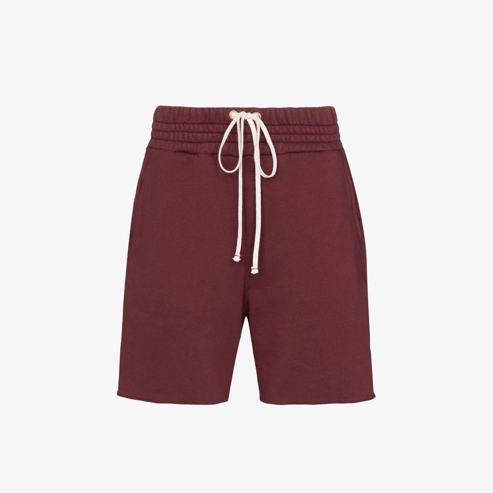 レス ティエン Les Tien メンズ ショートパンツ ボトムス・パンツ【Burgundy cotton yacht shorts】red