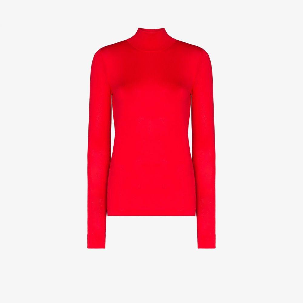 レ レヴェリズ Les Reveries レディース ニット・セーター トップス【turtleneck knit top】red