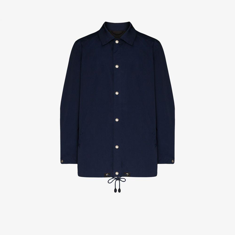 ケンゾー Kenzo メンズ ジャケット シャツジャケット アウター【logo print shirt jacket】blue