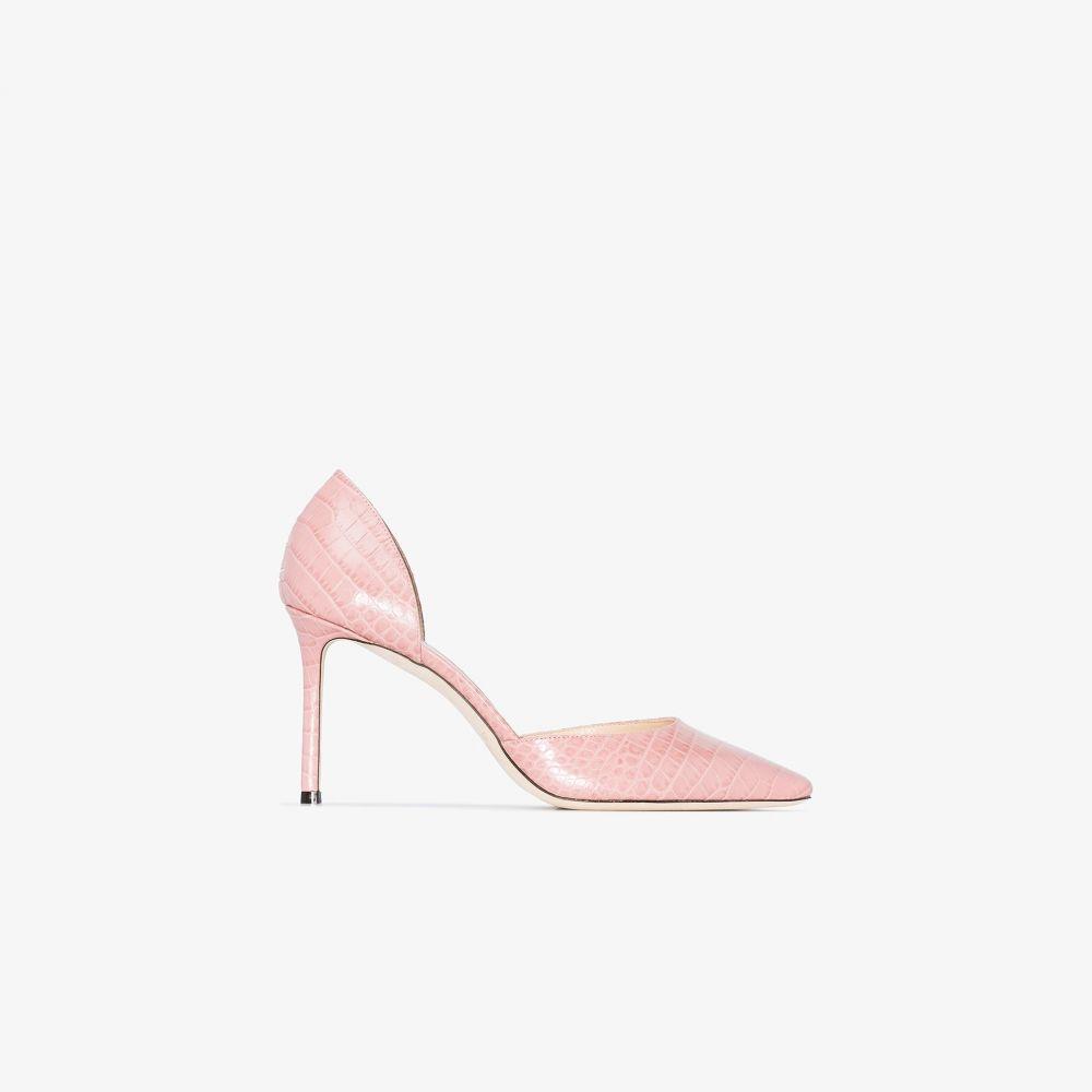 ジミー チュウ Jimmy Choo レディース パンプス シューズ・靴【pink Esther 85 croc-effect leather pumps】pink