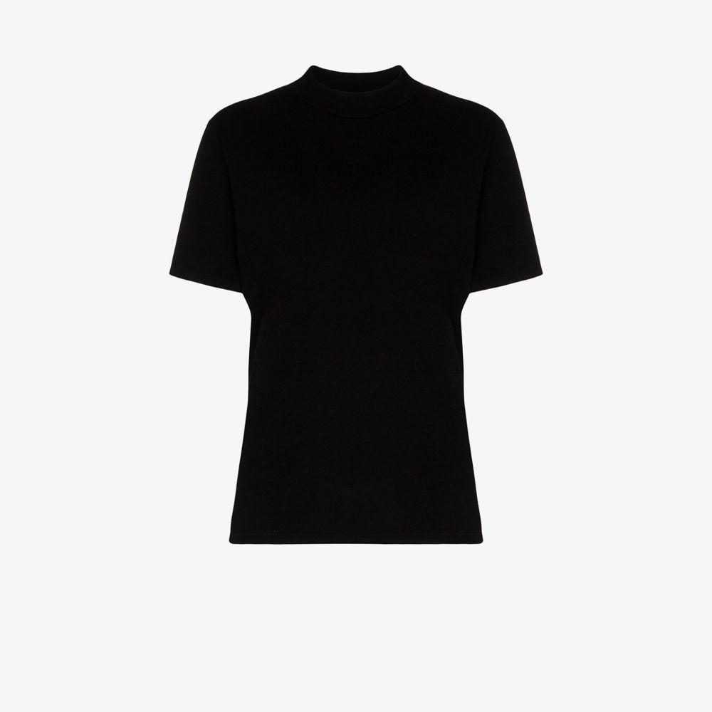 レス ティエン Les Tien レディース Tシャツ トップス【mock neck cotton t-shirt】black