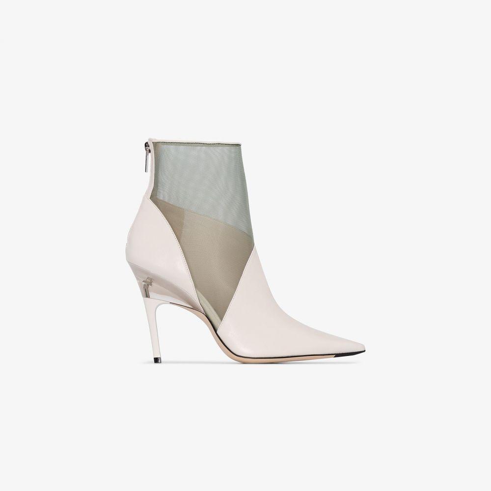 ジミー チュウ Jimmy Choo レディース ブーツ ショートブーツ シューズ・靴【white Sioux 100 leather ankle boots】white