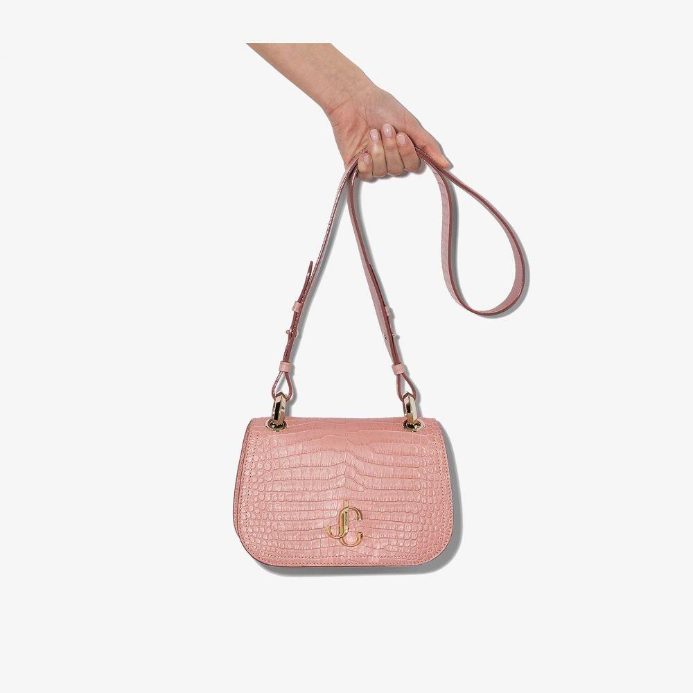 ジミー チュウ Jimmy Choo レディース ショルダーバッグ バッグ【pink varenne mock croc leather bag】pink