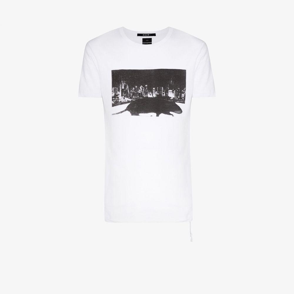 スビ Ksubi メンズ スキー・スノーボード Tシャツ トップス【klub rat T-shirt】white