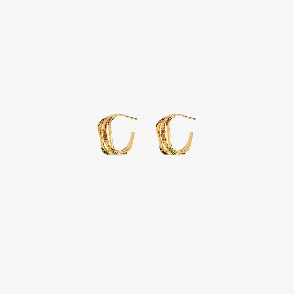 ジョアンナ ローラ コンスタンティン Joanna Laura Constantine レディース イヤリング・ピアス ジュエリー・アクセサリー【gold-plated gemstone three hoop earrings】gold