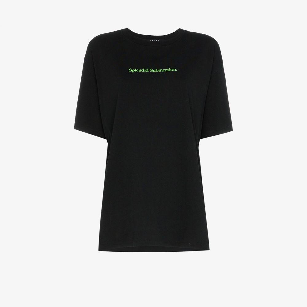 スビ Ksubi レディース Tシャツ トップス【Splendid Submersion logo print T-shirt】black
