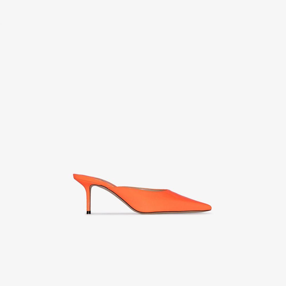 ジミー チュウ Jimmy Choo レディース サンダル・ミュール シューズ・靴【neon orange rav 65 leather mules】orange