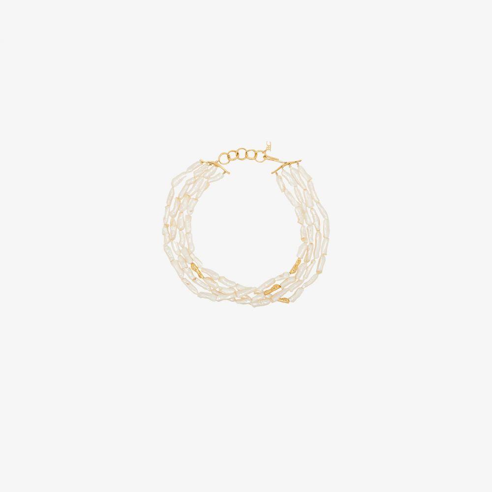 ジョアンナ ローラ コンスタンティン Joanna Laura Constantine レディース ネックレス ジュエリー・アクセサリー【white multi strand pearl necklace】gold