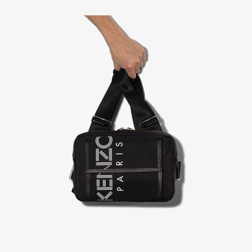 ケンゾー Kenzo メンズ メッセンジャーバッグ バッグ【black Paris logo chest messenger bag】black