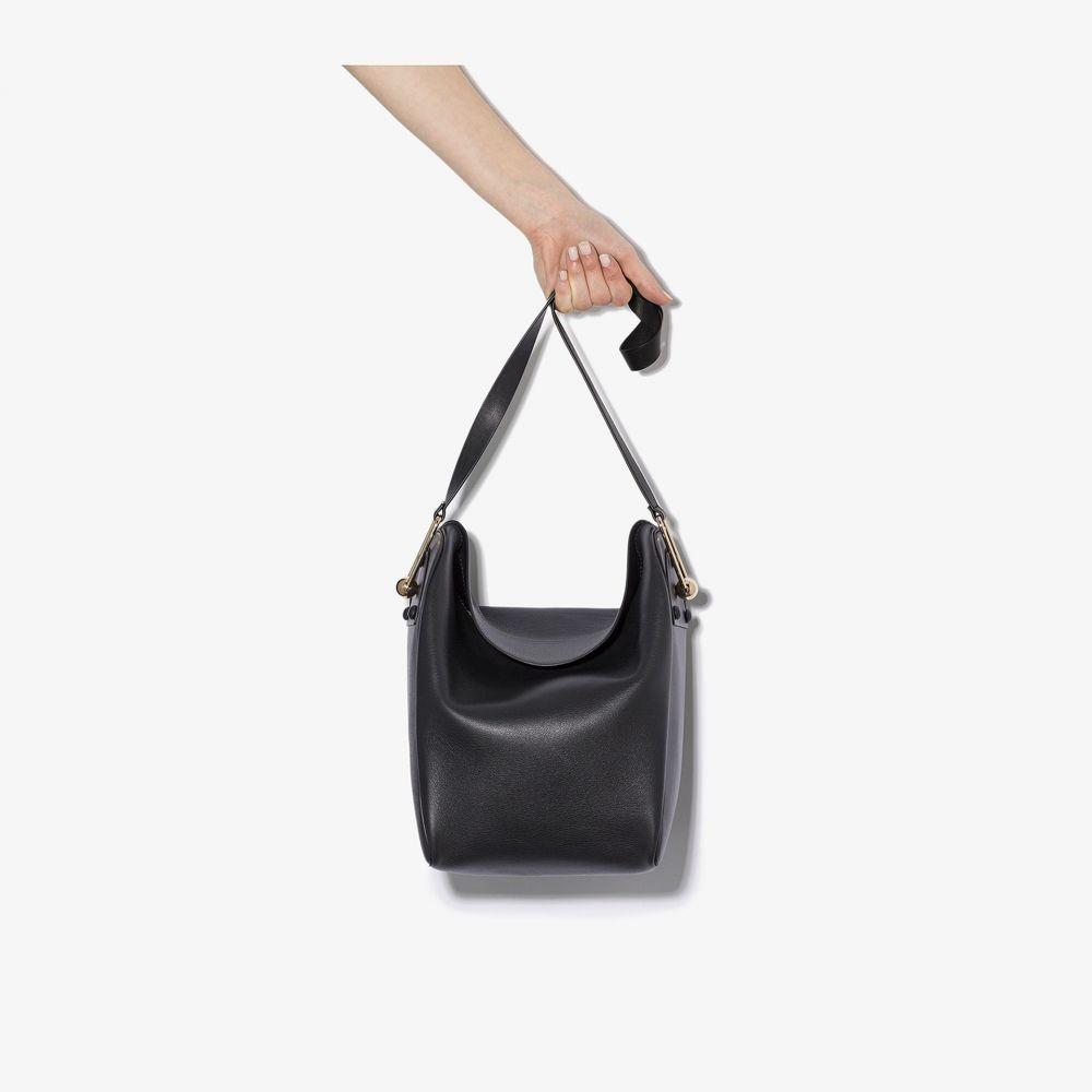 ルメール Lemaire レディース トートバッグ バッグ【black medium fold over leather tote bag】black