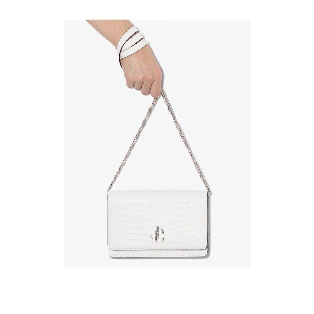 ジミー チュウ Jimmy Choo レディース ショルダーバッグ バッグ【white palace leather cross body bag】white
