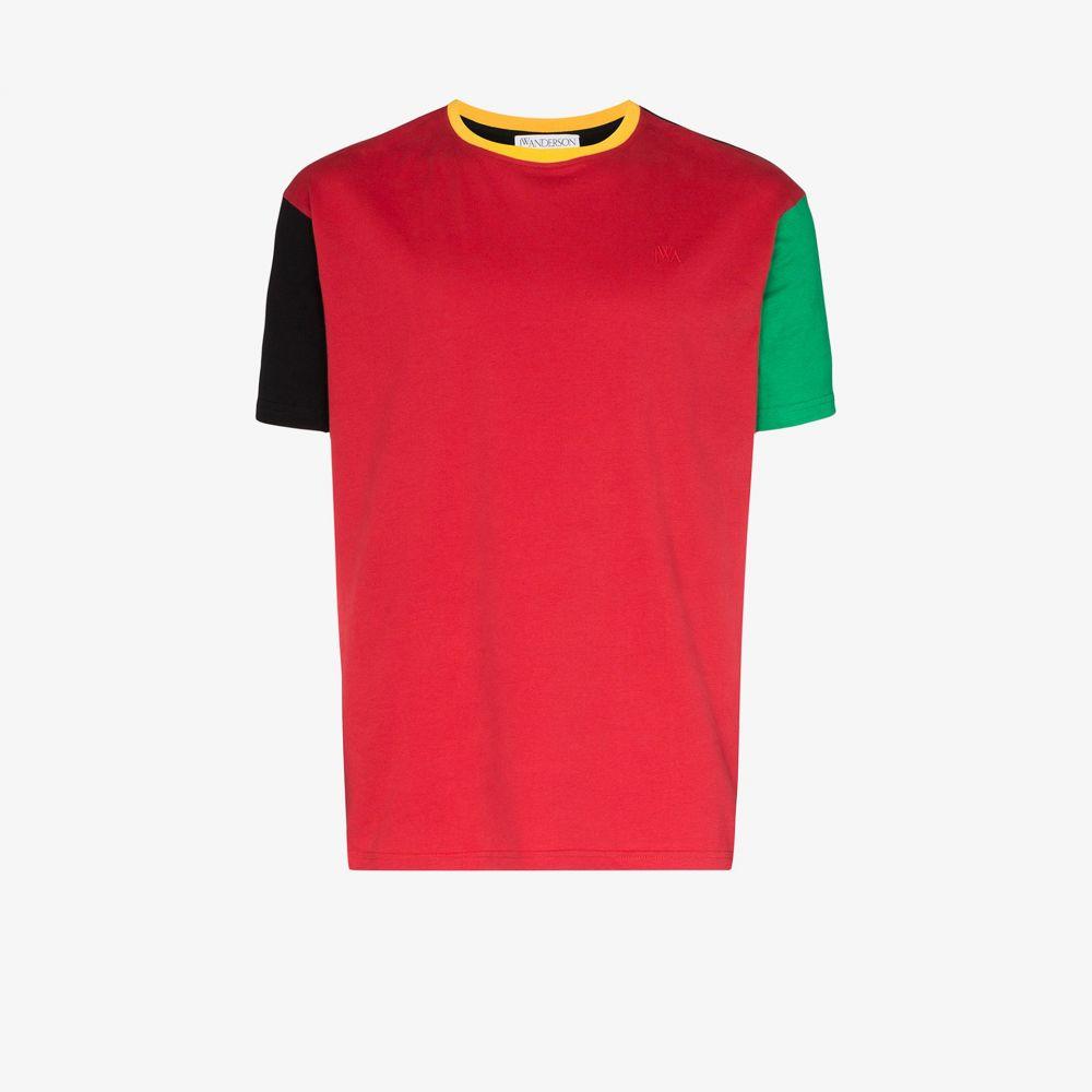 J.W.アンダーソン JW Anderson メンズ Tシャツ トップス【colour block cotton T-shirt】black