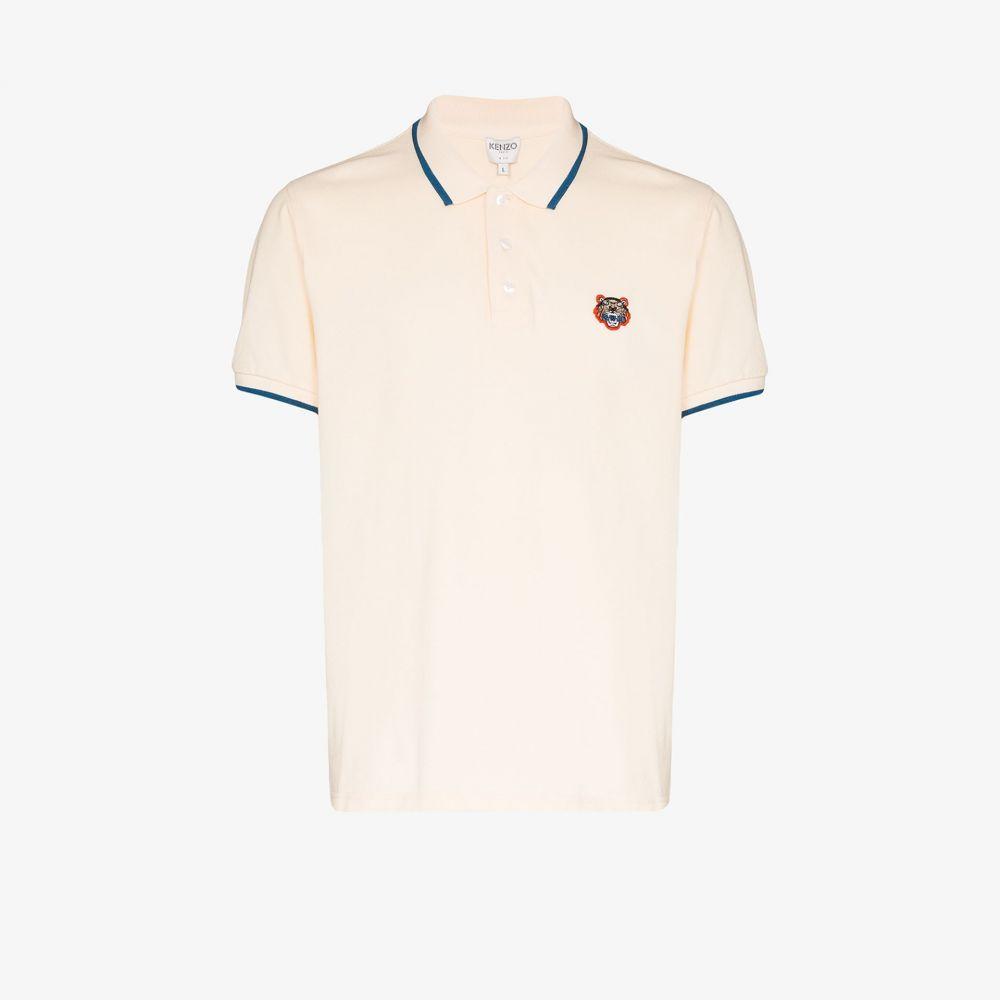 ケンゾー Kenzo メンズ ポロシャツ トップス【Tiger embroidery polo shirt】neutrals
