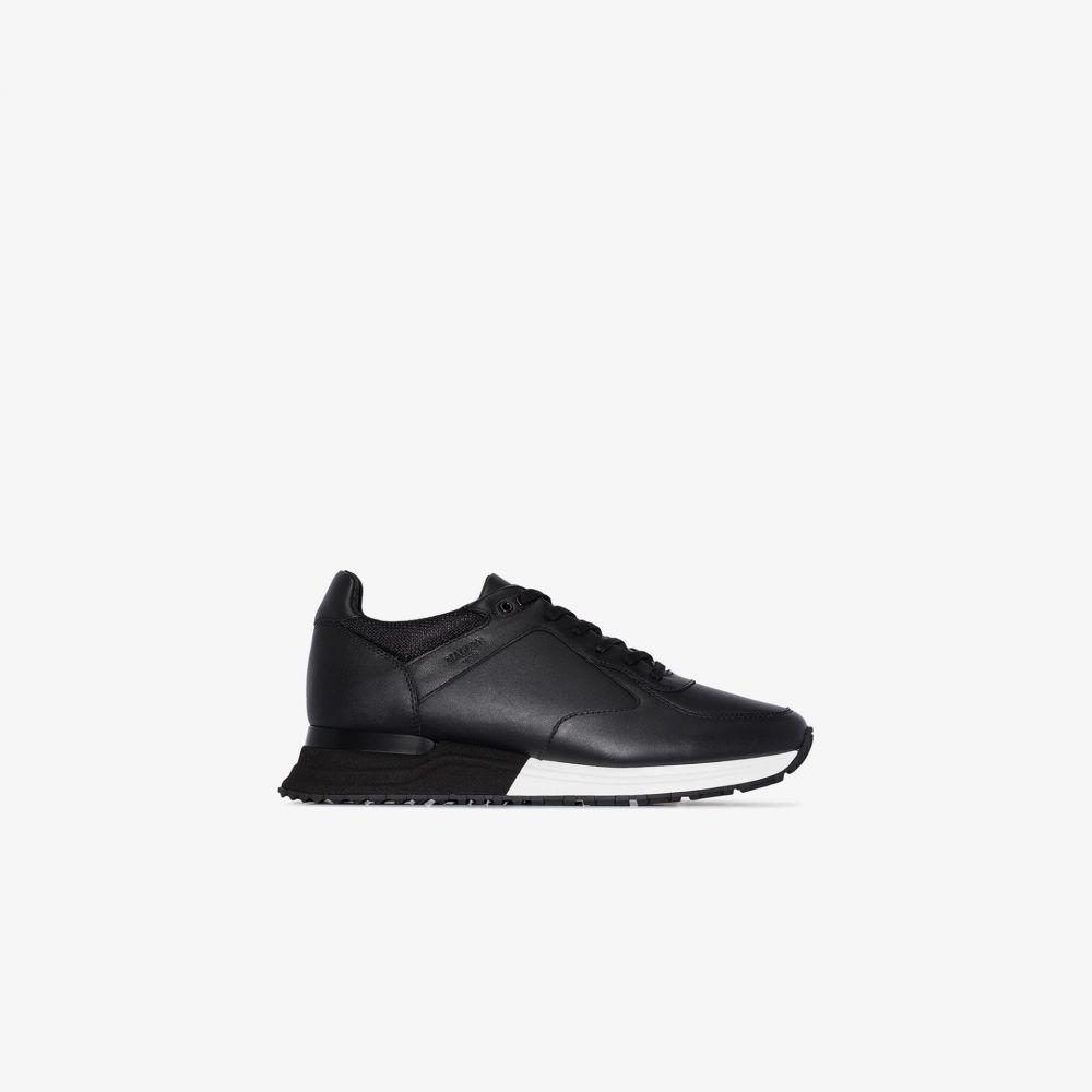 マレット Mallet メンズ ランニング・ウォーキング スニーカー シューズ・靴【black lux runner leather sneakers】black