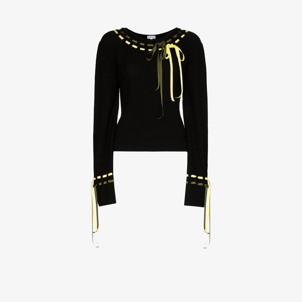 ロエベ Loewe レディース ニット・セーター トップス【drawstring balloon sleeve sweater】black