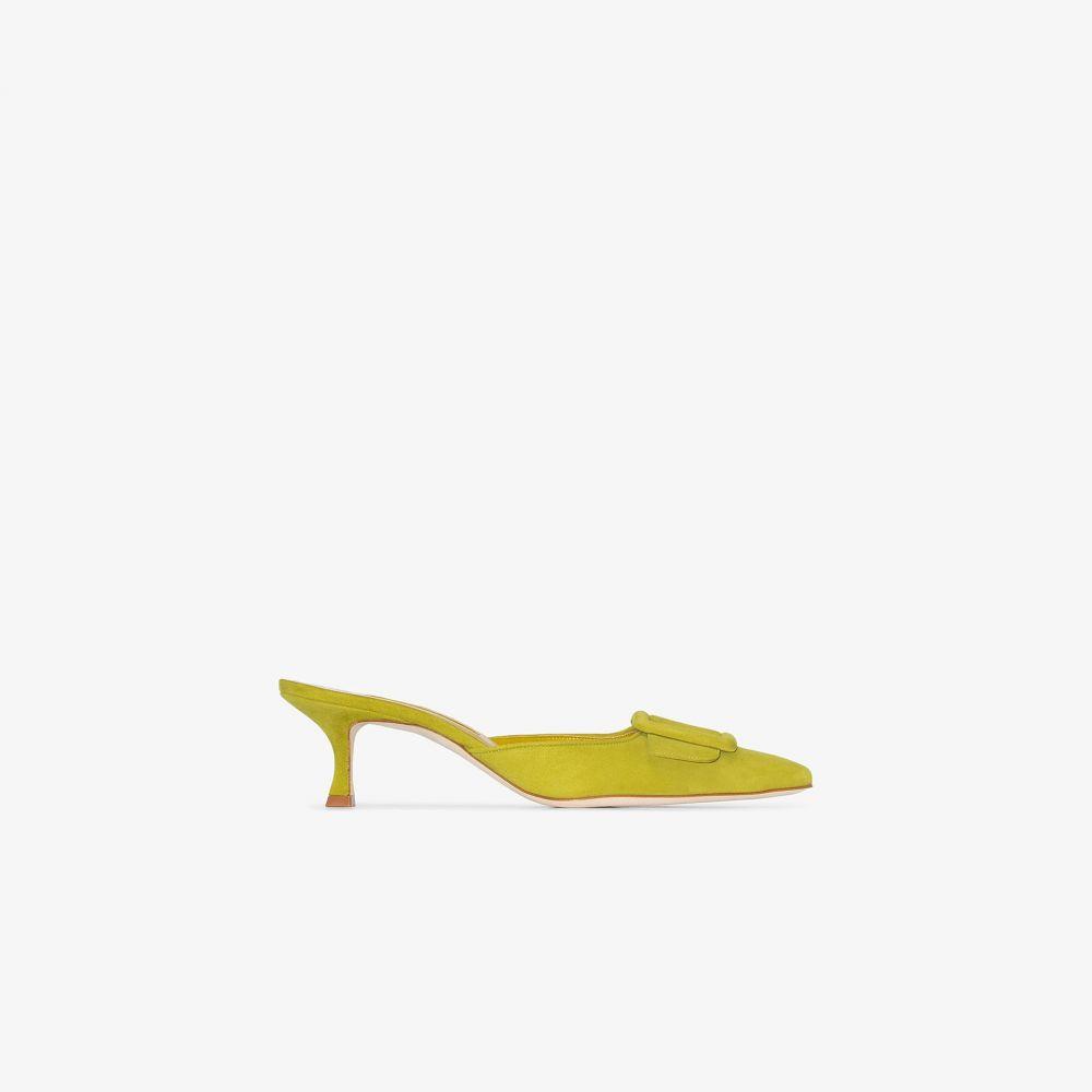 マノロブラニク Manolo Blahnik レディース サンダル・ミュール シューズ・靴【green Maysale 50 mules】green