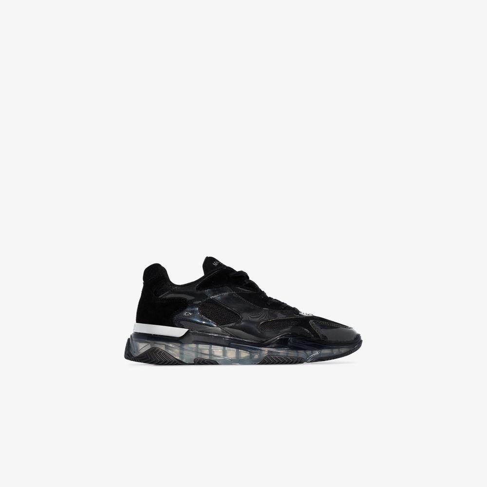 マレット Mallet メンズ スニーカー ローカット シューズ・靴【black Lurus Ghost low top leather sneakers】black