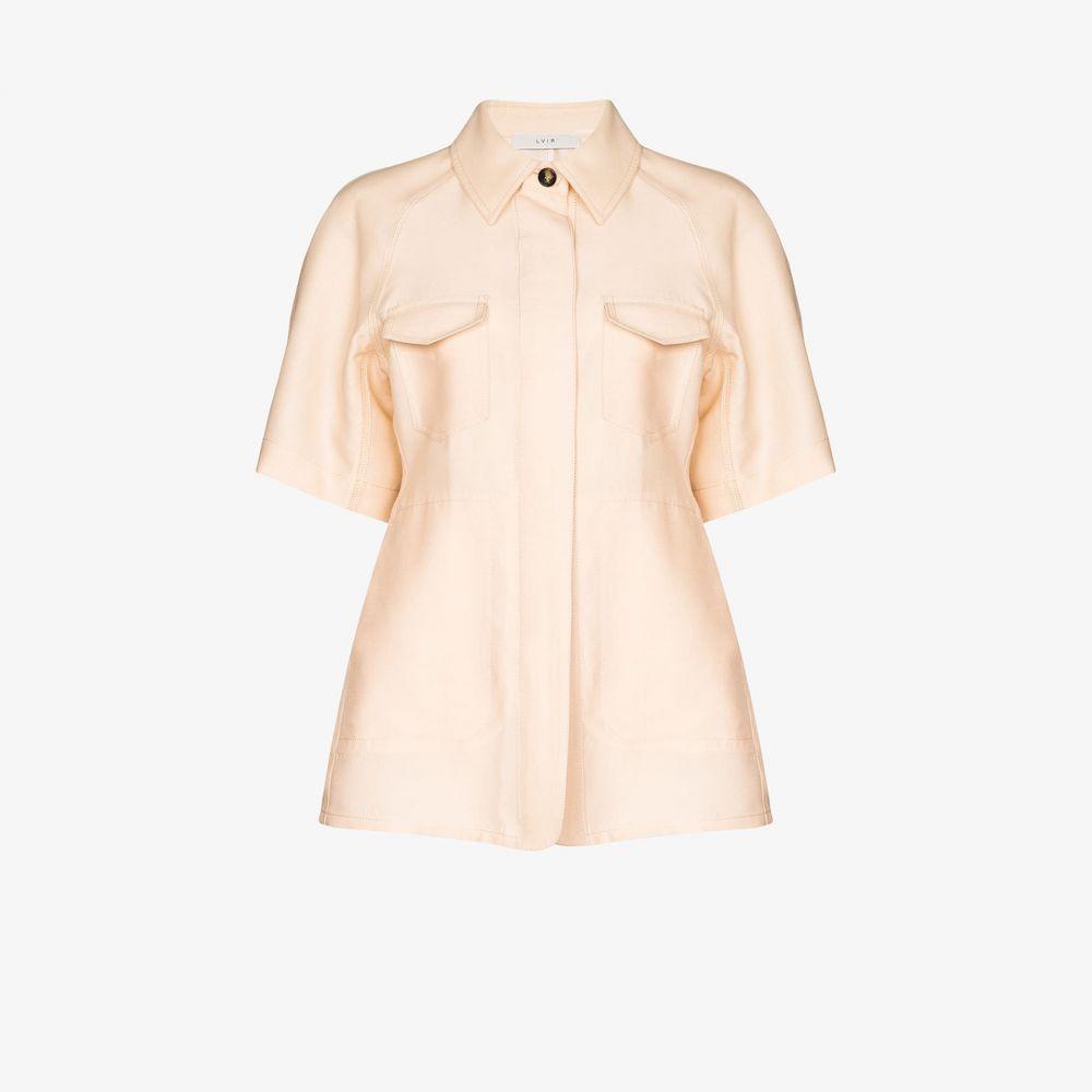 LVIR レディース ブラウス・シャツ シャツジャケット トップス【Silk shirt jacket】neutrals