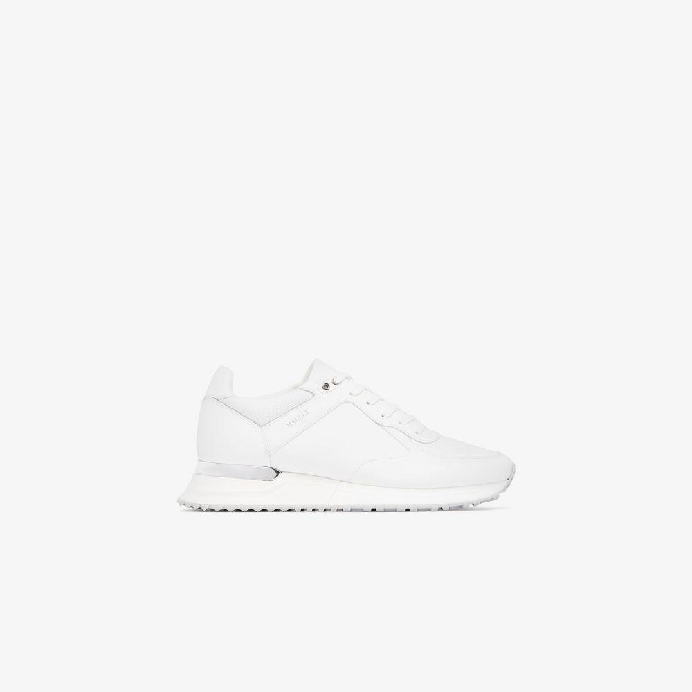 マレット Mallet メンズ ランニング・ウォーキング スニーカー シューズ・靴【white Lux Runner leather sneakers】white