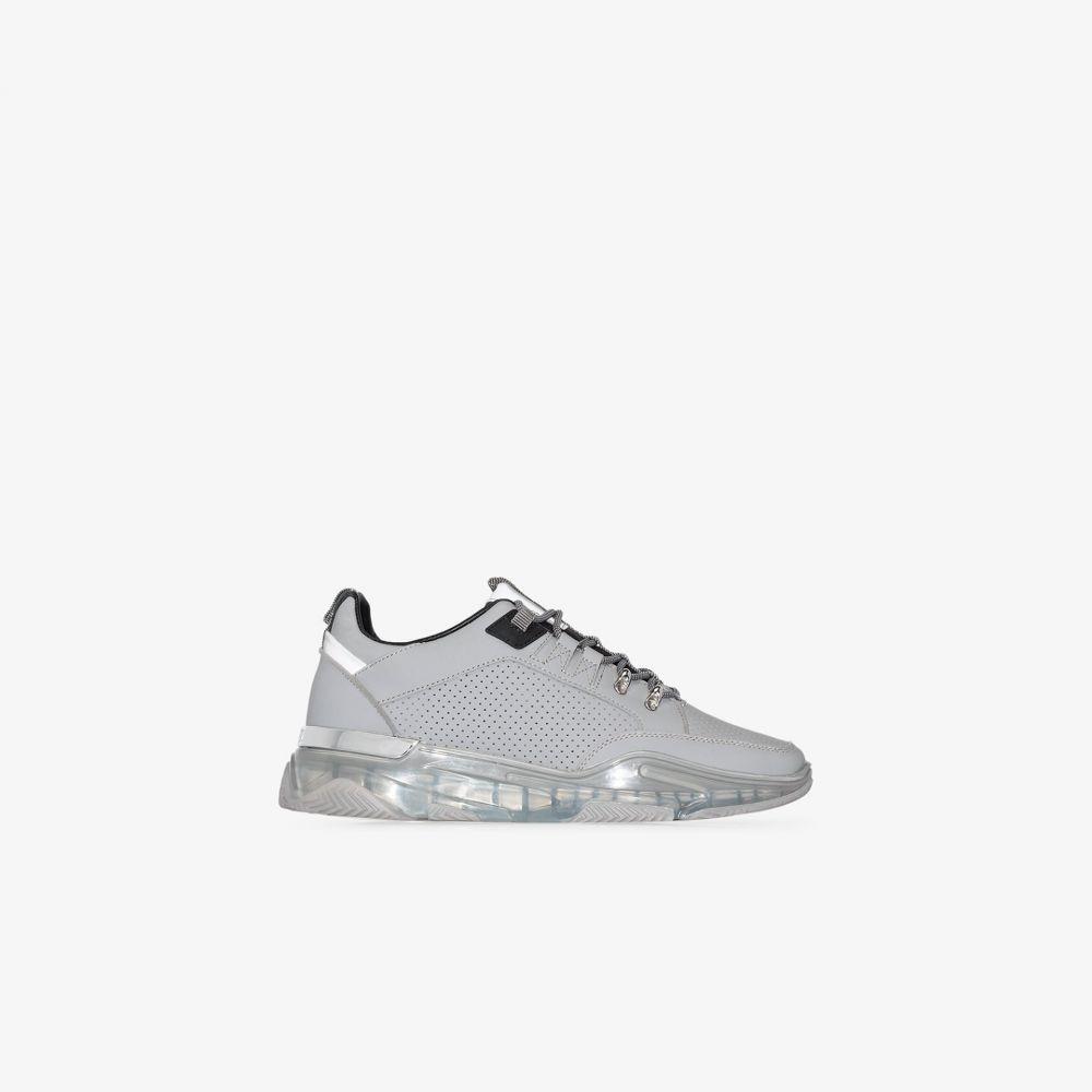 マレット Mallet メンズ スニーカー シューズ・靴【grey Elmore Clear leather sneakers】grey