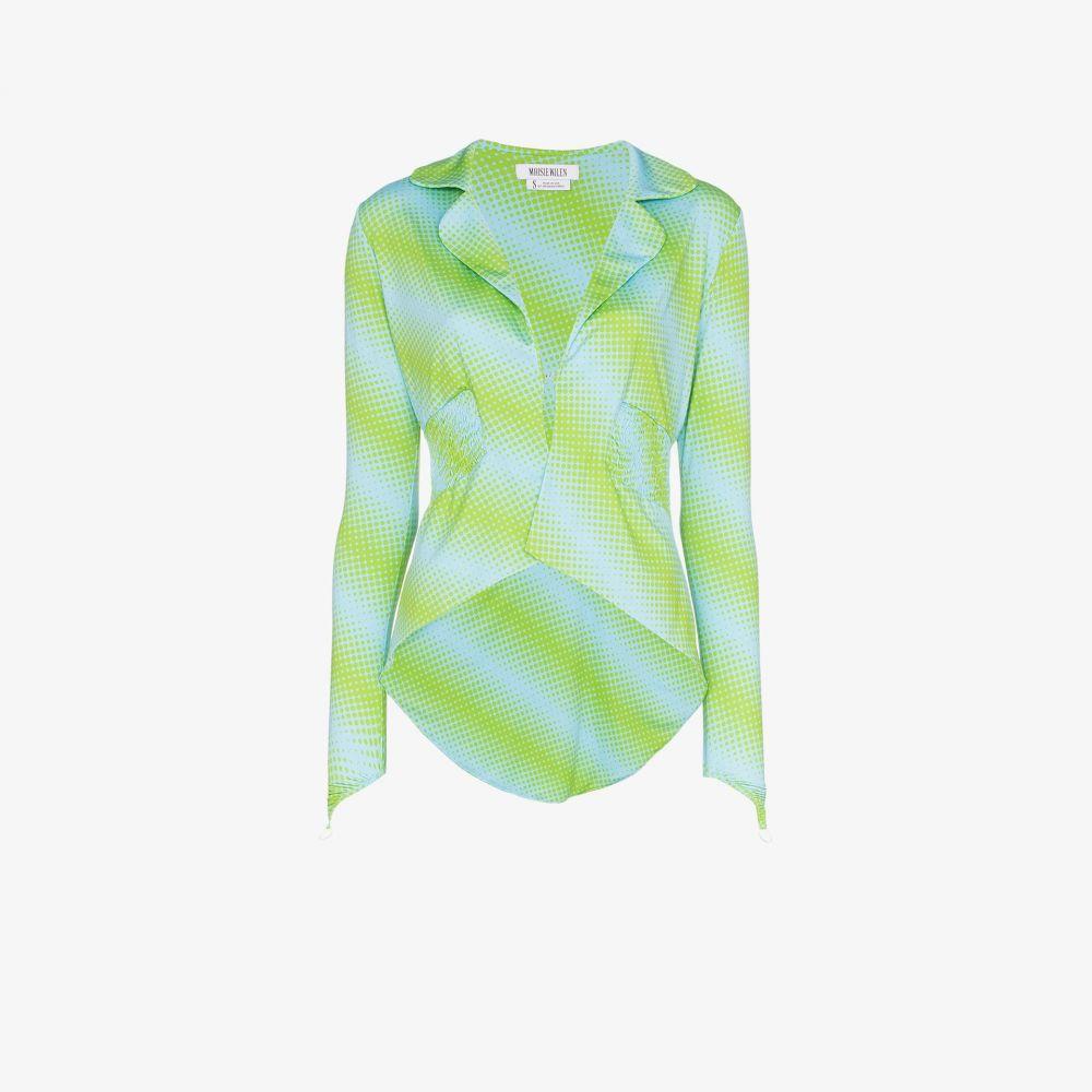 メイジー ウィレン Maisie Wilen レディース スーツ・ジャケット アウター【diagonal striped and dotted blazer】blue