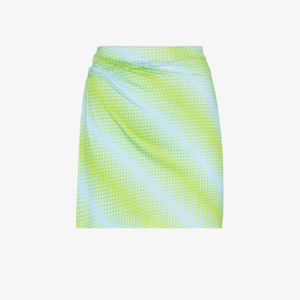 メイジー ウィレン Maisie Wilen レディース ミニスカート スカート【Printed ruched mini skirt】blue