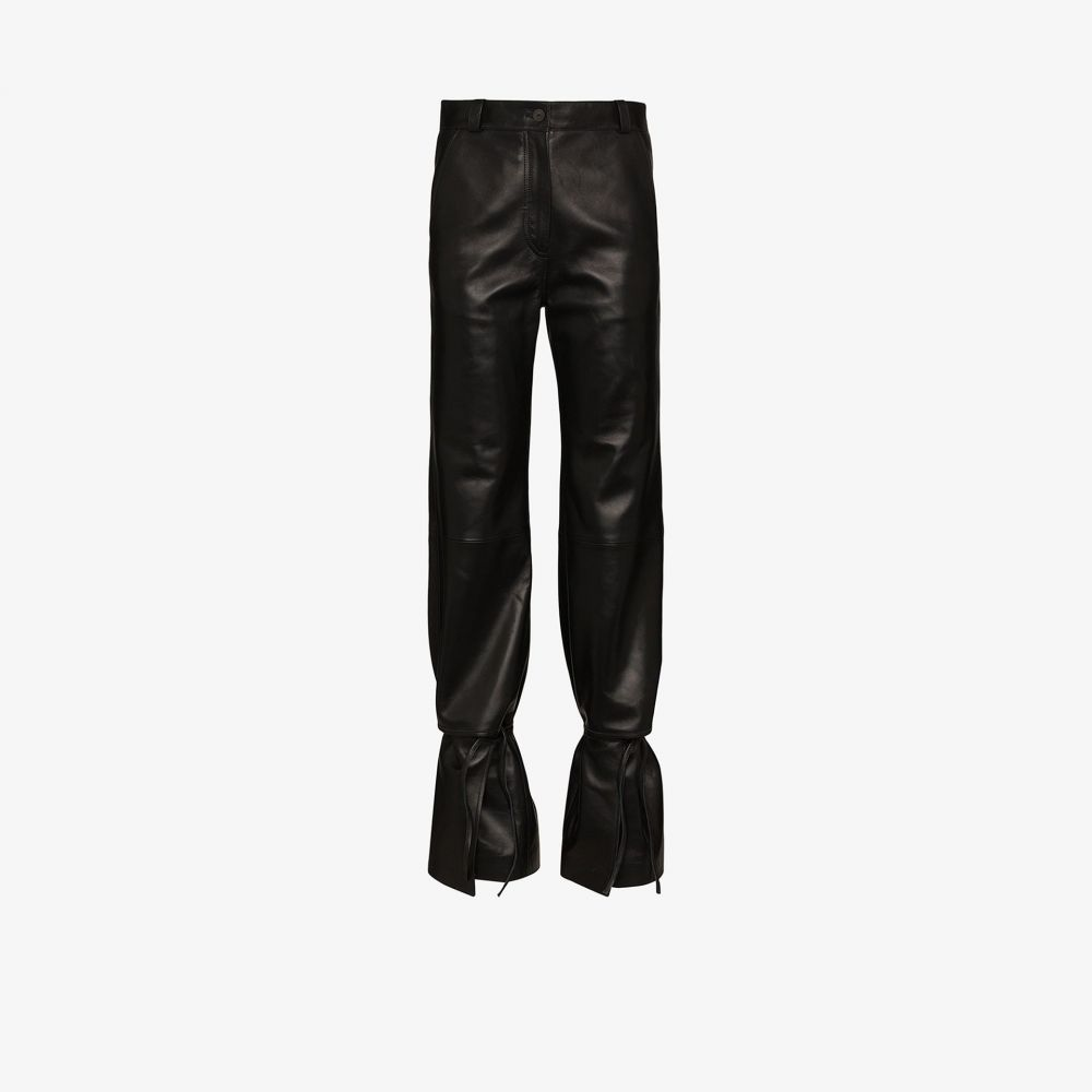 ロエベ Loewe レディース ボトムス・パンツ 【high waist leather trousers】black