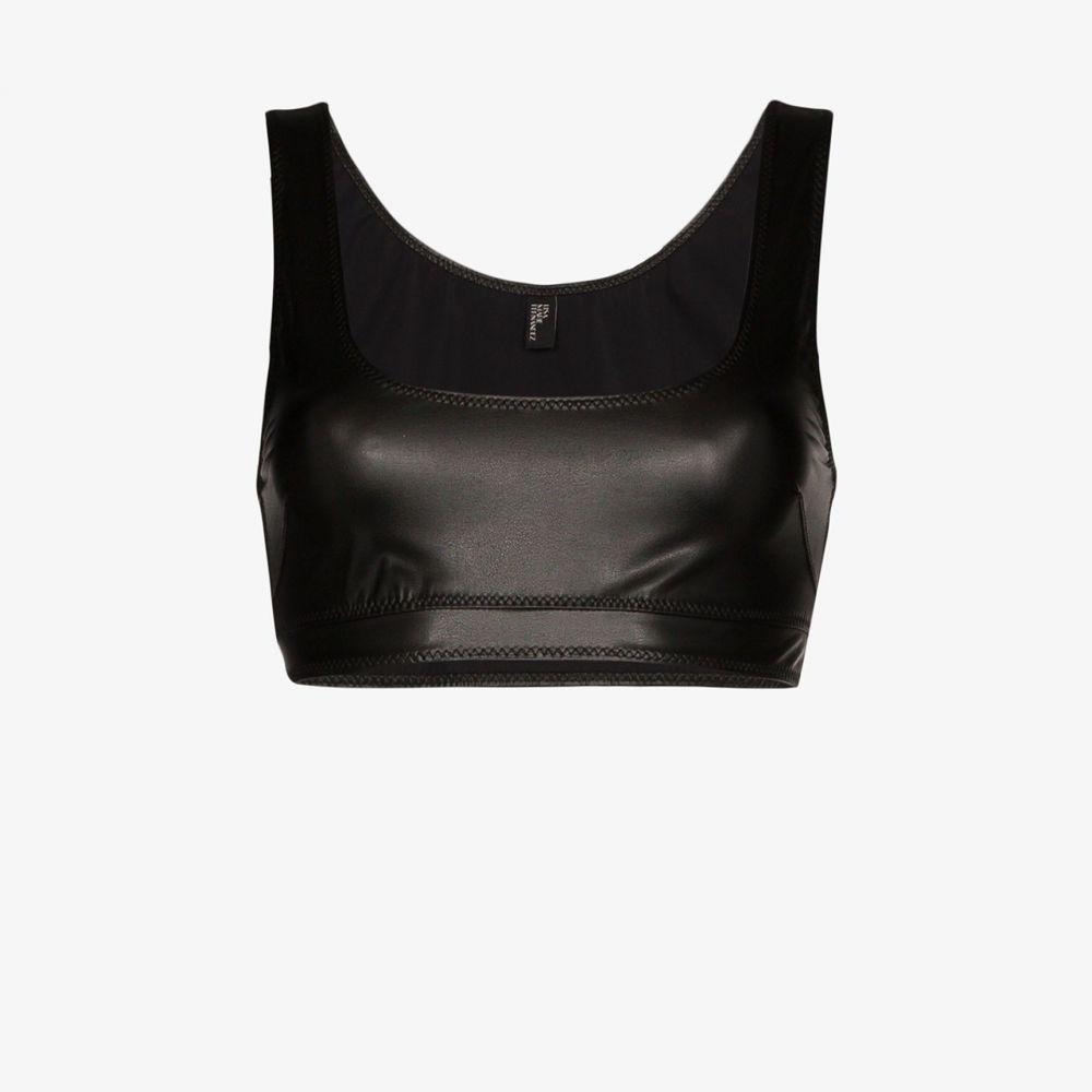 リサ マリー フェルナンデス Lisa Marie Fernandez レディース ビーチウェア 水着・ビーチウェア【Zani faux leather crop top】black