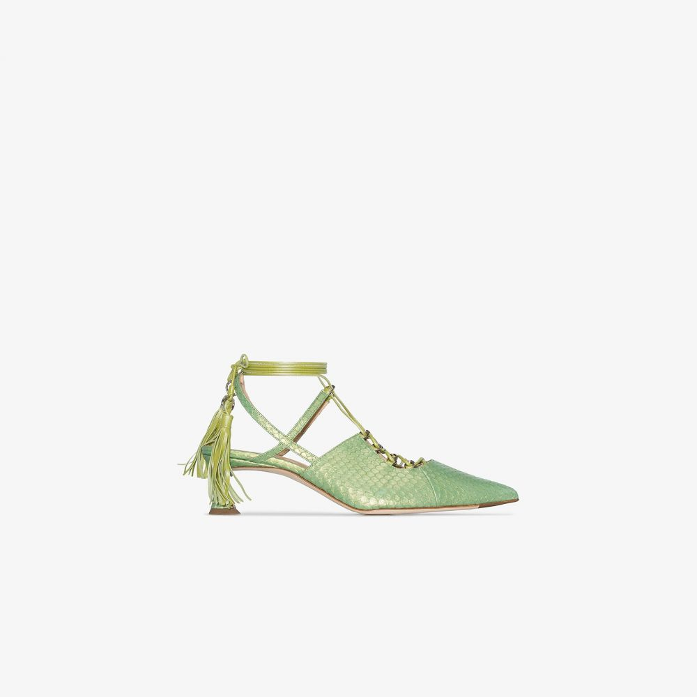リュドミラ Liudmila レディース パンプス シューズ・靴【green Bellatrix 40 snake effect leather pumps】green