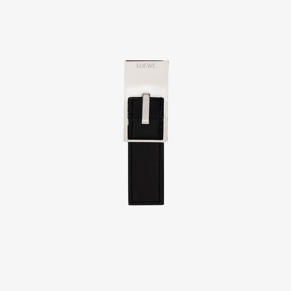 ロエベ Loewe レディース イヤリング・ピアス ジュエリー・アクセサリー【black metal belt buckle earring】black