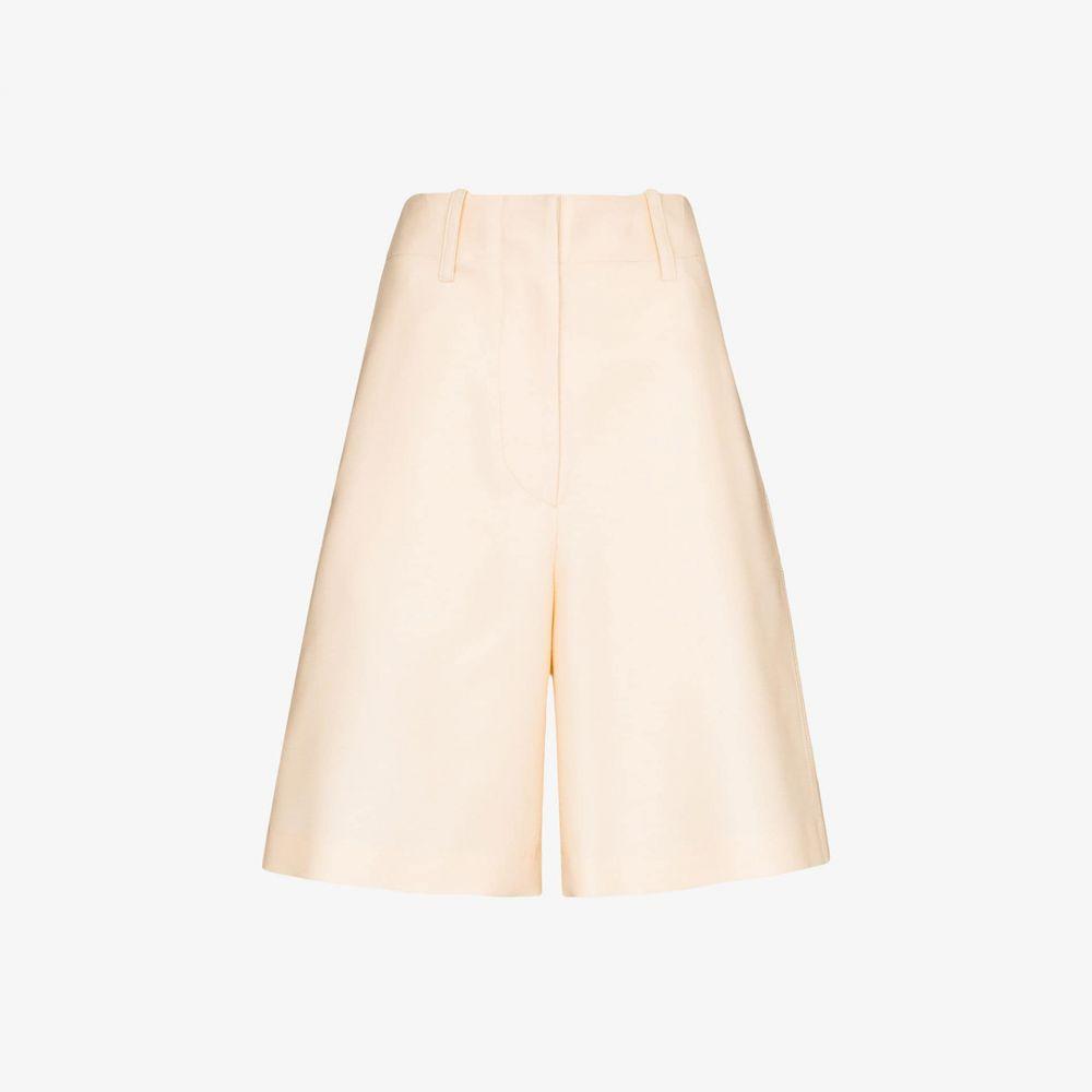 LVIR レディース ショートパンツ ワイドパンツ ボトムス・パンツ【Wide leg silk shorts】neutrals
