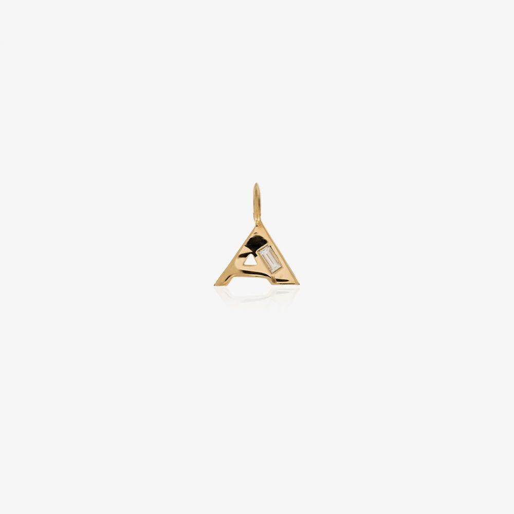 リジー マンドラー ファイン ジュエリー Lizzie Mandler Fine Jewelry レディース ネックレス ジュエリー・アクセサリー【18K yellow gold A initial diamond pendant necklace】