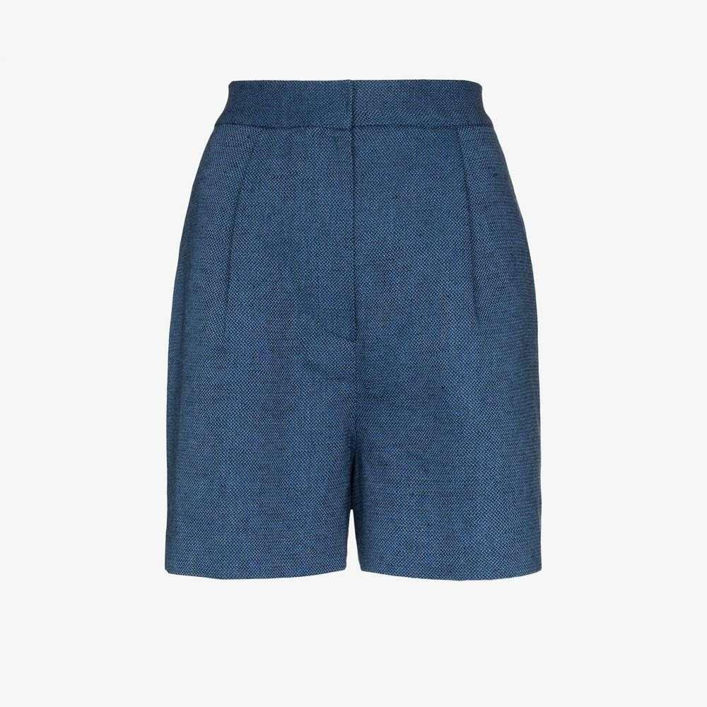 LVIR レディース ショートパンツ ボトムス・パンツ【high waist shorts】blue