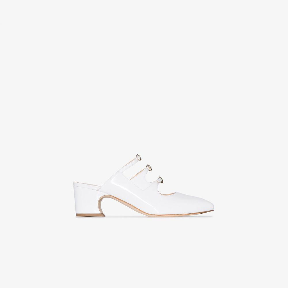 リュドミラ Liudmila レディース サンダル・ミュール シューズ・靴【white Bimba 50 patent leather mules】white