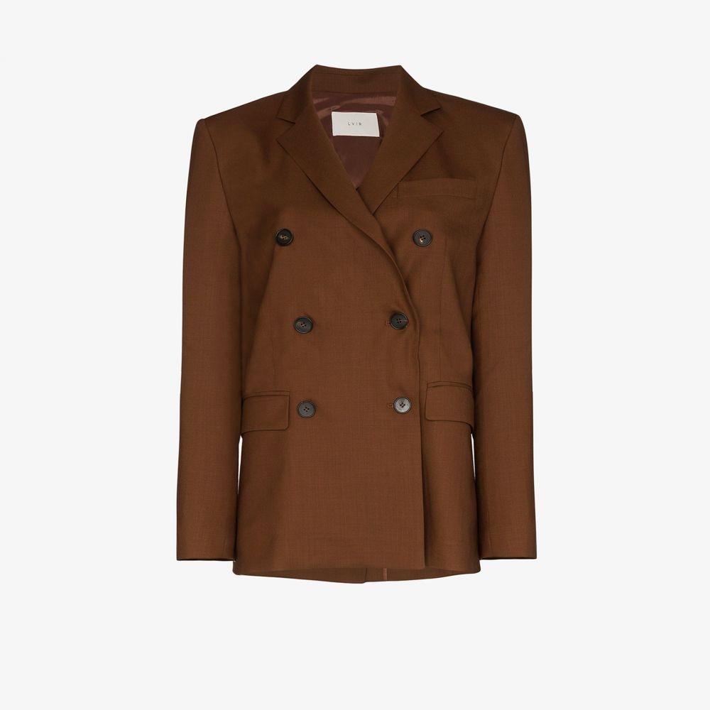 LVIR レディース スーツ・ジャケット アウター【double-breasted blazer】brown