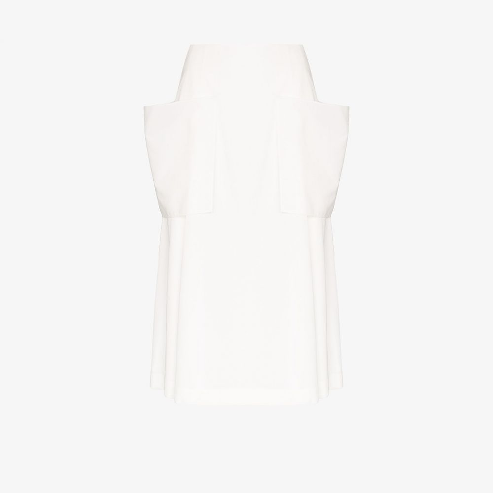 ロウ クラシック Low Classic レディース スカート 【Pocket detail pleated skirt】white