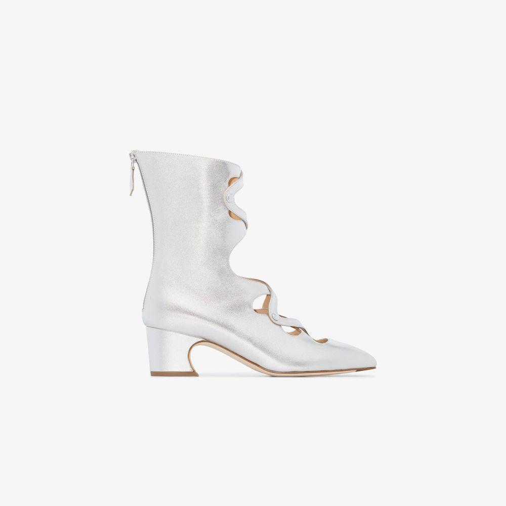 リュドミラ Liudmila レディース ブーツ ショートブーツ シューズ・靴【silver Juba 50 ankle boots】silver