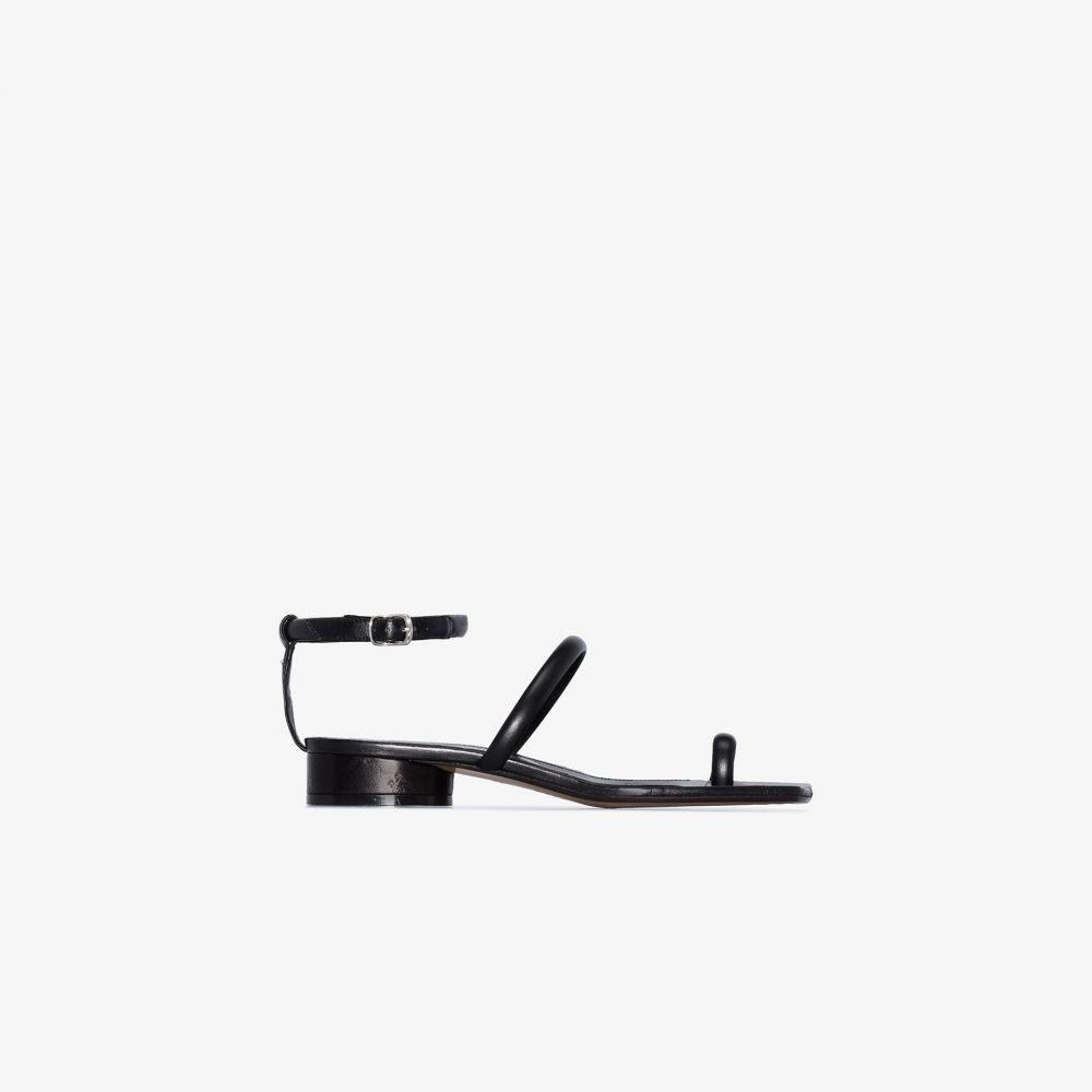 メゾン マルジェラ Maison Margiela レディース サンダル・ミュール シューズ・靴【black Tabi leather sandals】black
