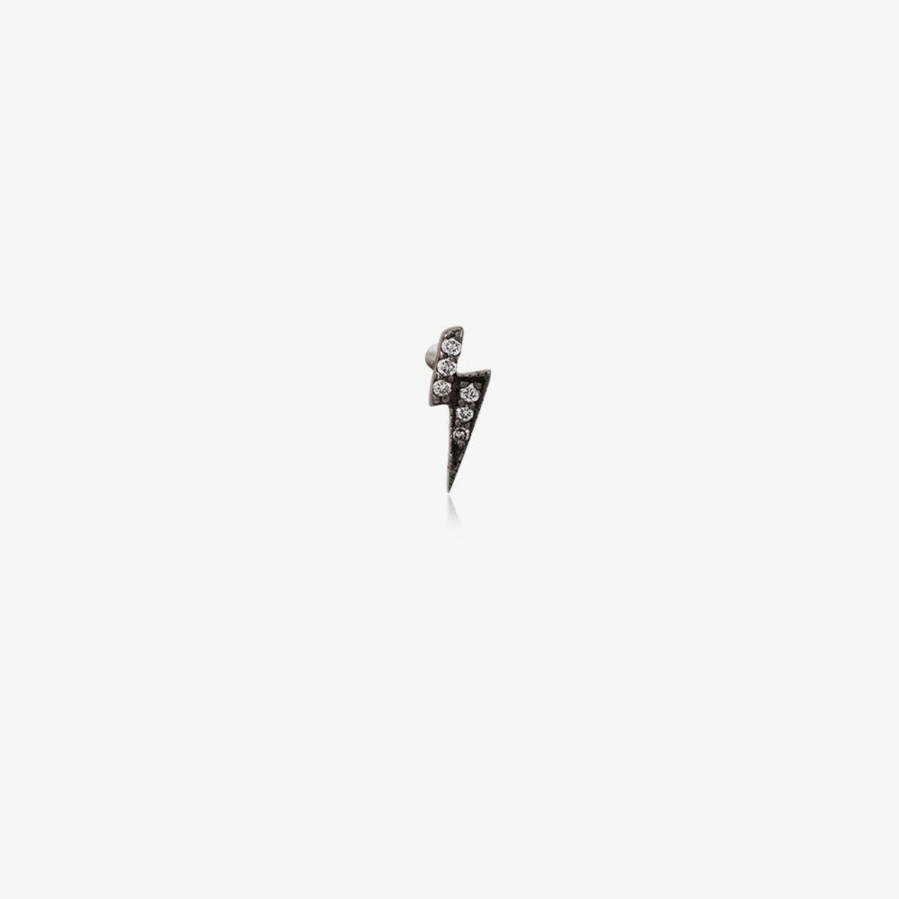 earring】black Loquet lightning ロケット single ジュエリー・アクセサリー【black レディース イヤリング・ピアス silver and stud bolt diamond
