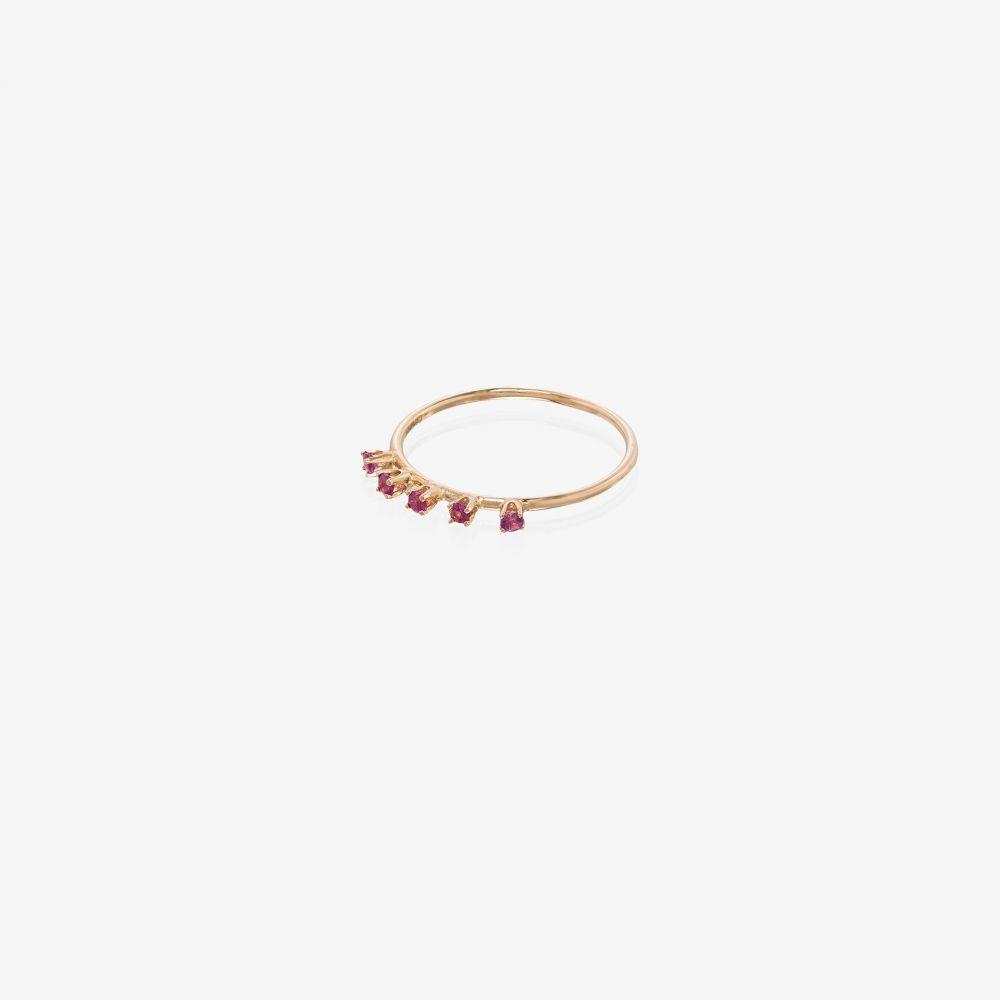 ローレン スチュワート Loren Stewart レディース 指輪・リング ジュエリー・アクセサリー【18K yellow gold pink sapphire ring】