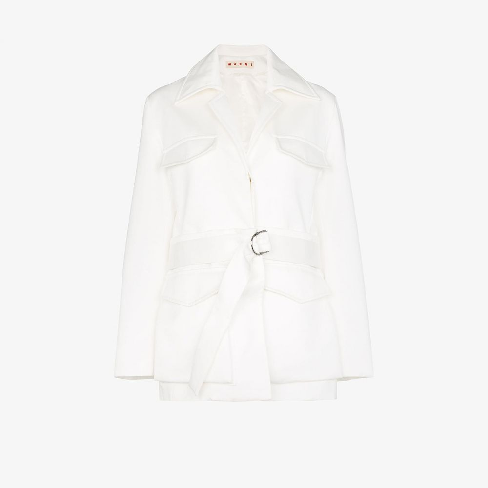 マルニ Marni レディース ジャケット アウター【Convertible belted jacket】white