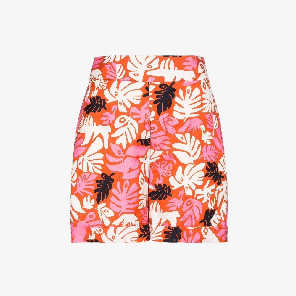 マルニ Marni レディース ショートパンツ ボトムス・パンツ【floral high waist shorts】orange